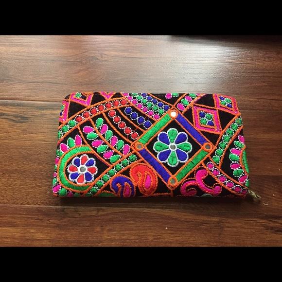 Anthropologie Handbags - NEW Boho Multi Color Large Wallet